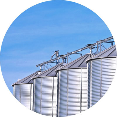 Automated grain storage facilities
